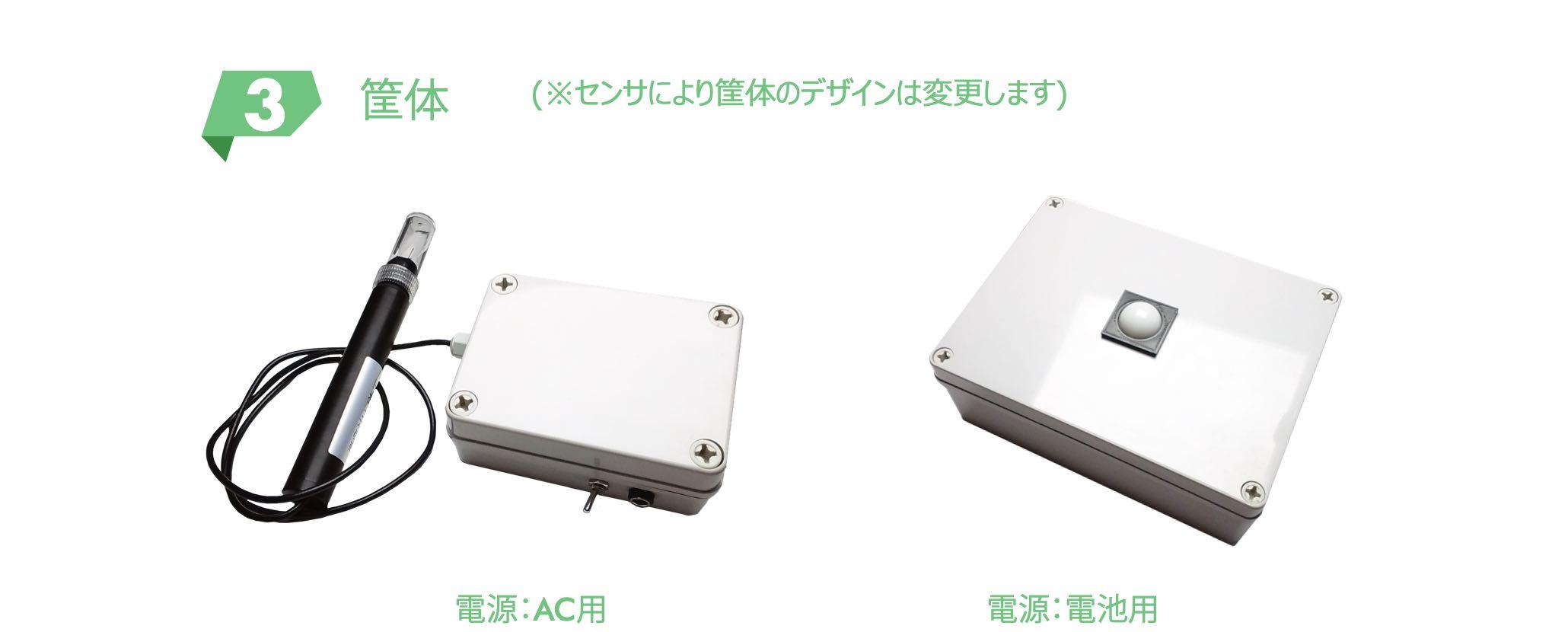 筐体 (センサにより筐体のデザインは変更します。)